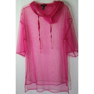 Forever 21 Hot Pink Swimsuit Coverup Hoodie